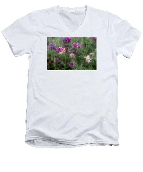 How I Love Flowers Men's V-Neck T-Shirt by The Art Of Marilyn Ridoutt-Greene