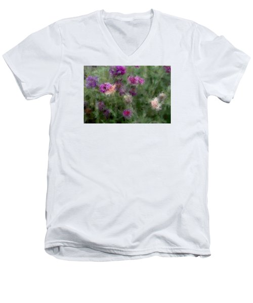 How I Love Flowers Men's V-Neck T-Shirt