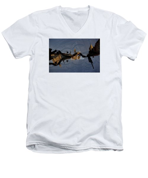 Men's V-Neck T-Shirt featuring the photograph How Is It That You Forget? by Danica Radman