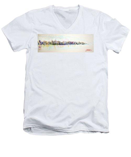 Hudson River View Men's V-Neck T-Shirt