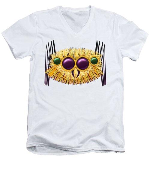 Huge Hairy Spider Men's V-Neck T-Shirt by Michal Boubin