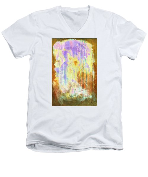 Hugging Canvas Men's V-Neck T-Shirt
