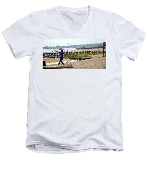 Hula Hoop Dance Men's V-Neck T-Shirt