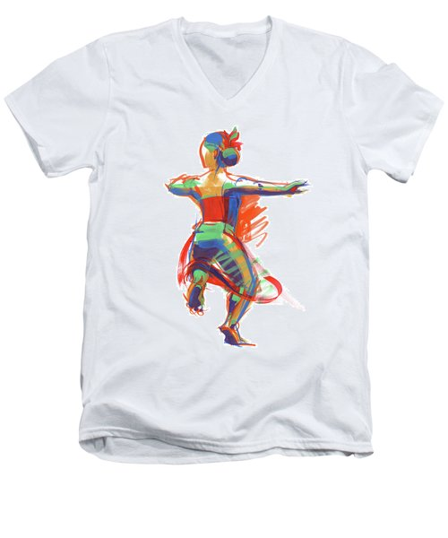 Hula Wahine Ikaika Men's V-Neck T-Shirt