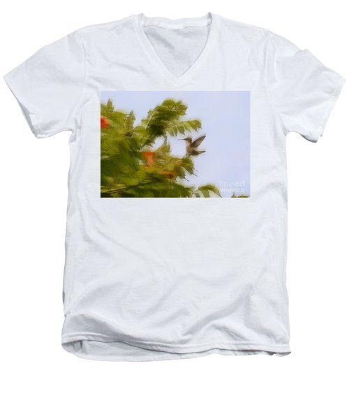 Men's V-Neck T-Shirt featuring the photograph Humbird by Robert Pearson