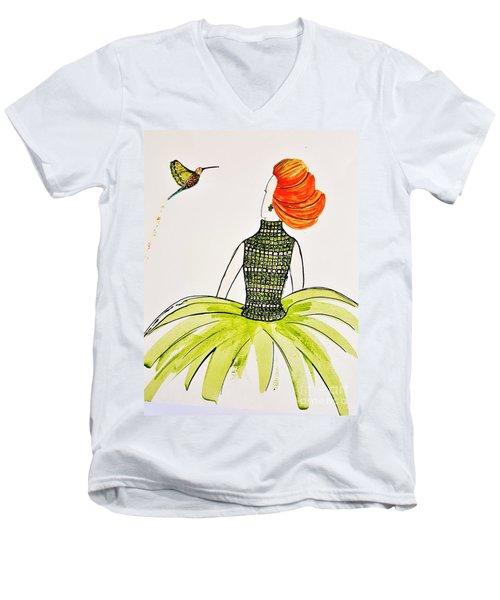 Hummingbird Admirer Men's V-Neck T-Shirt