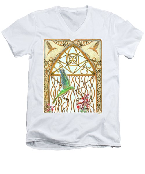Hummingbird Sanctuary Men's V-Neck T-Shirt