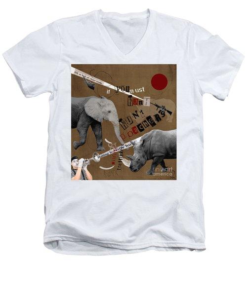 Hunt Wildlife Poachers Men's V-Neck T-Shirt