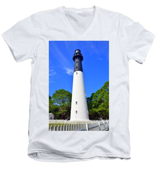 Hunting Island Lighthouse Beaufort Sc Men's V-Neck T-Shirt