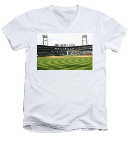 Huntington Park Baseball Field Men's V-Neck T-Shirt