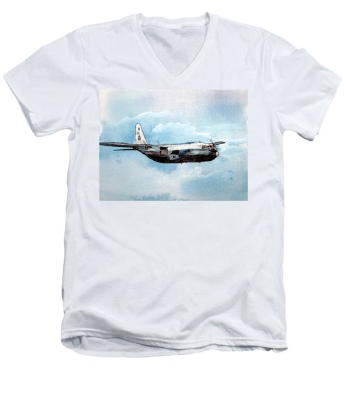 Hurricane Hunter Men's V-Neck T-Shirt by R Kyllo