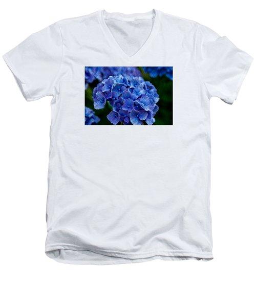 Hydrangea  Men's V-Neck T-Shirt by Dennis Eckel