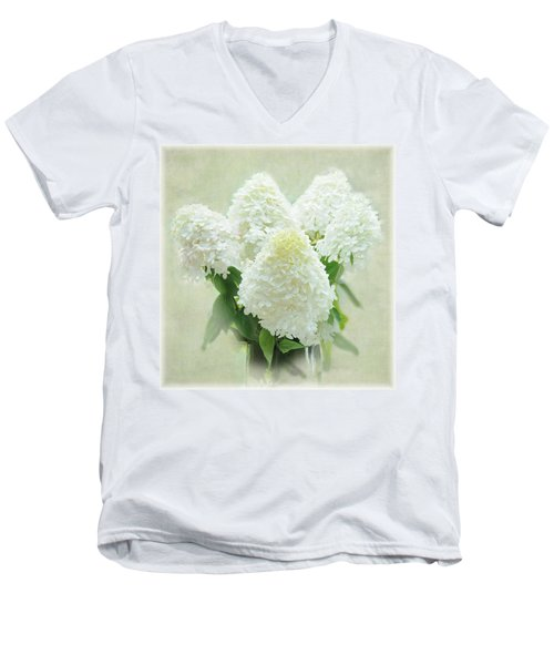 Hydrangeas Men's V-Neck T-Shirt by Geraldine Alexander
