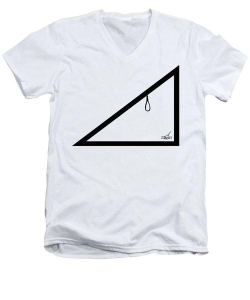 Hypotenoose Black Men's V-Neck T-Shirt