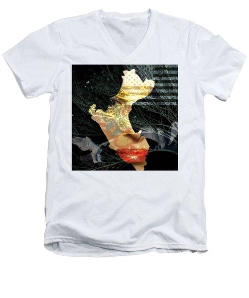 I Am An American Men's V-Neck T-Shirt