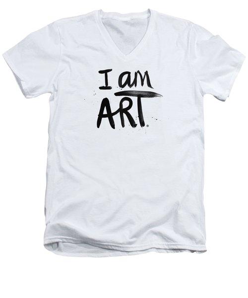 I Am Art Black Ink - Art By Linda Woods Men's V-Neck T-Shirt by Linda Woods