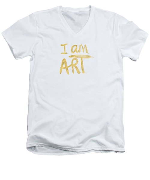 I Am Art Gold - Art By Linda Woods Men's V-Neck T-Shirt