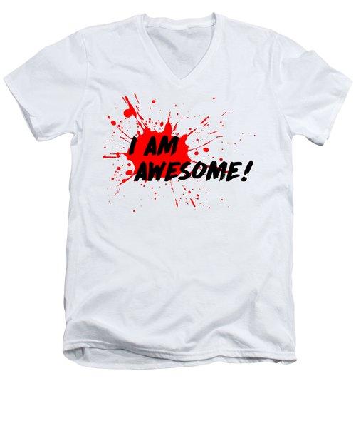 I Am Awesome - Light Background Version Men's V-Neck T-Shirt