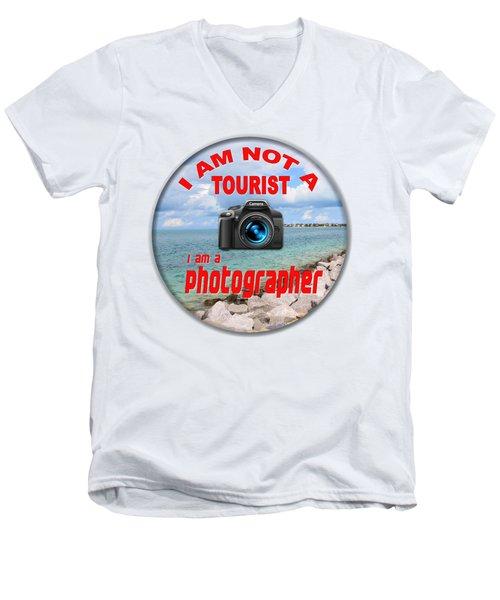 I Am Not A Tourist Men's V-Neck T-Shirt