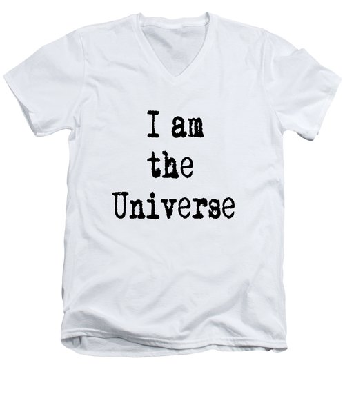 I Am The Universe Quote Prints, All Is One, Art Print Posters, Crown Chakra Men's V-Neck T-Shirt