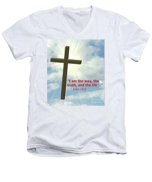 I Am The Way-2 Men's V-Neck T-Shirt