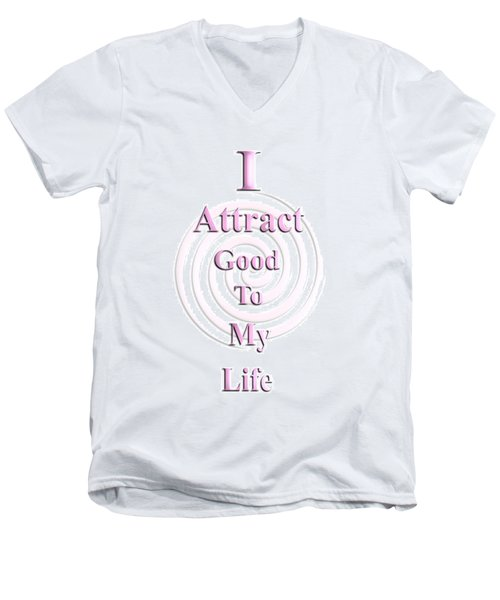 I Attract Pink Men's V-Neck T-Shirt