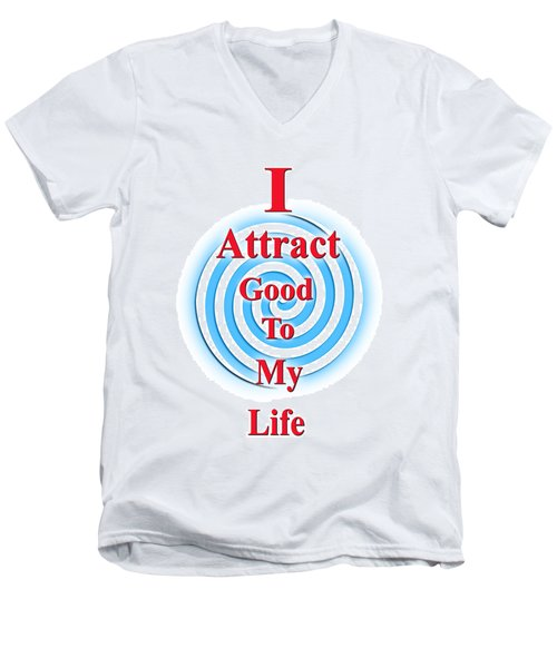 I Attract Red White Blue Men's V-Neck T-Shirt