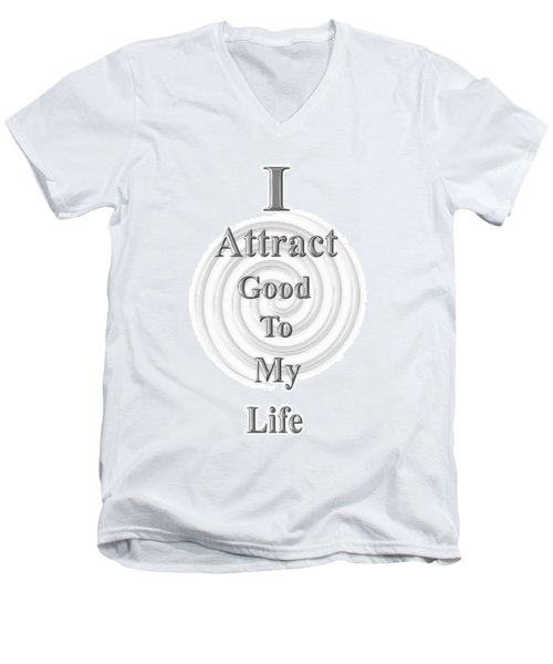 I Attract Silver Men's V-Neck T-Shirt