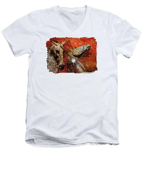 I Believe Men's V-Neck T-Shirt by Terry Fleckney