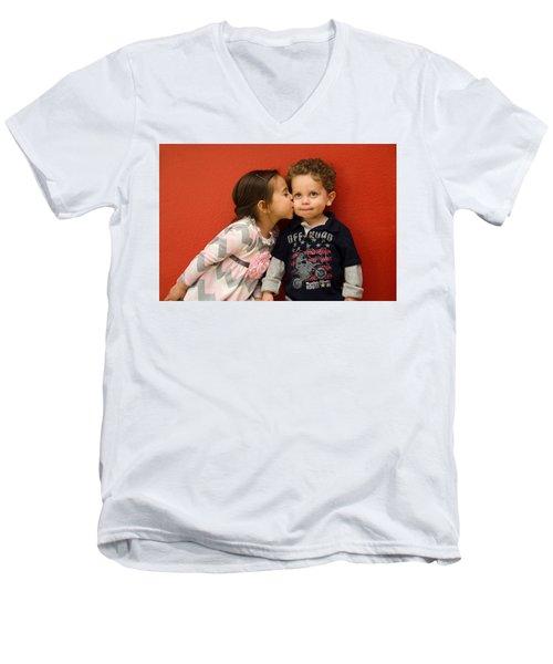 I Give You A Kiss Men's V-Neck T-Shirt