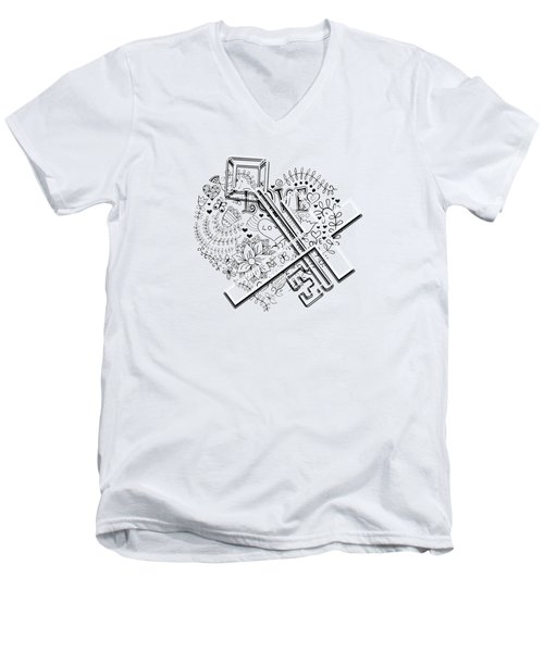 I Give You The Key Of My Heart Men's V-Neck T-Shirt