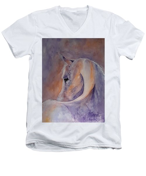I Hear You - Painting Men's V-Neck T-Shirt by Veronica Rickard