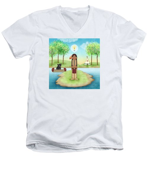 I Is For Indian Men's V-Neck T-Shirt