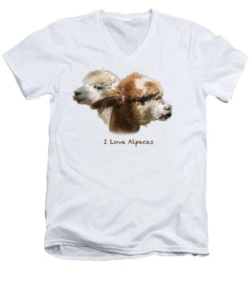 I Love Alpacas Men's V-Neck T-Shirt