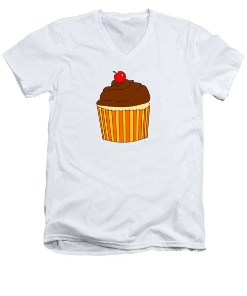I Love Cupcakes - Food Art  Men's V-Neck T-Shirt