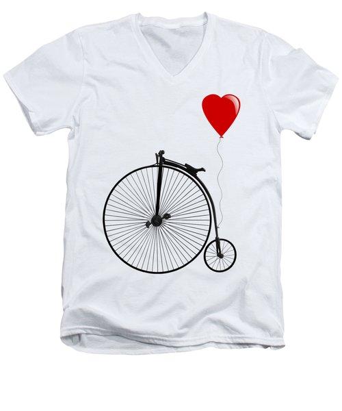 I Love Cycling Men's V-Neck T-Shirt