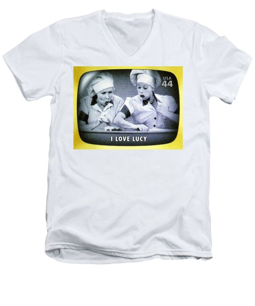 I Love Lucy Men's V-Neck T-Shirt by Lanjee Chee