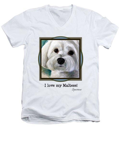 I Love My Maltese Men's V-Neck T-Shirt