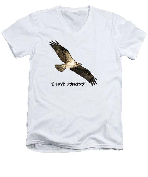 I Love Ospreys 2016-1 Men's V-Neck T-Shirt