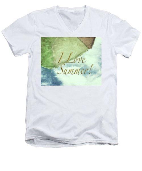 I Love Summer I Men's V-Neck T-Shirt