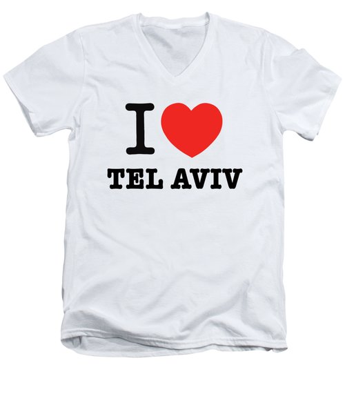 i love Tel Aviv Men's V-Neck T-Shirt