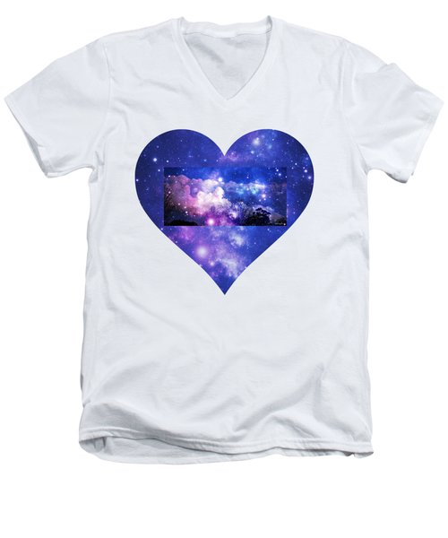 Men's V-Neck T-Shirt featuring the photograph I Love The Night Sky by Leanne Seymour
