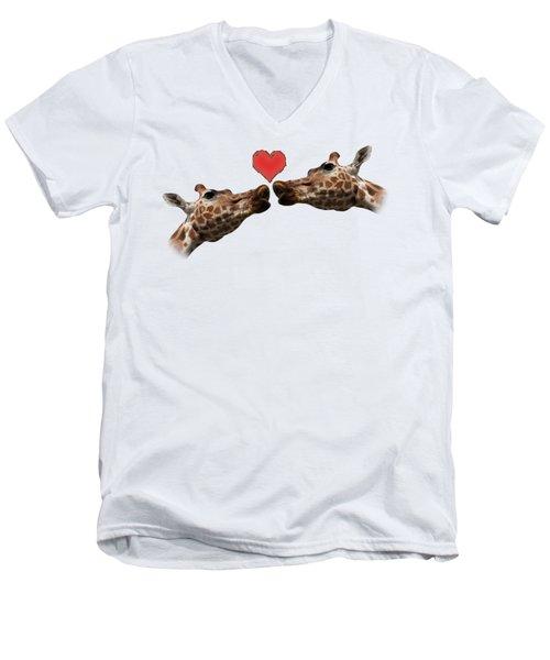 I Love You On Transparent Background Men's V-Neck T-Shirt