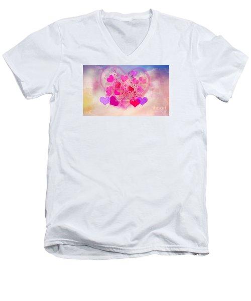 I Love You..happy Valentines Day Men's V-Neck T-Shirt