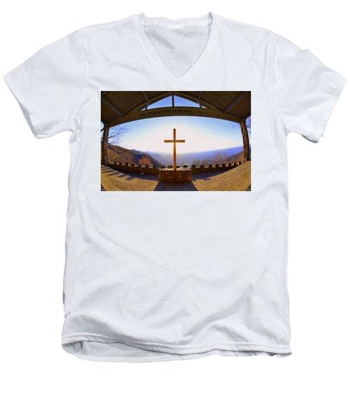 I Will Lift My Eyes To The Hills Psalm 121 1 Men's V-Neck T-Shirt