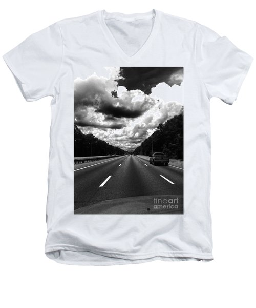 I95 Clouds Men's V-Neck T-Shirt by WaLdEmAr BoRrErO