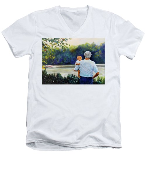 Ian And His Daddy One Sunday Afternoon Men's V-Neck T-Shirt