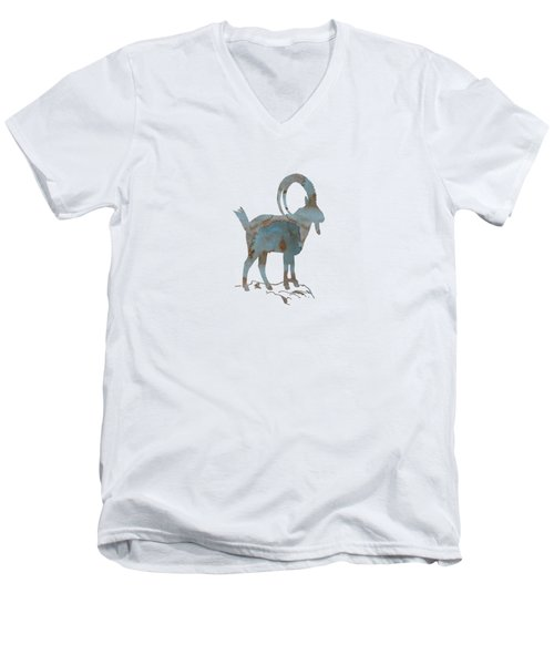 Ibex Men's V-Neck T-Shirt by Mordax Furittus