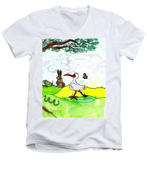 Ibis And Friends Listening Men's V-Neck T-Shirt