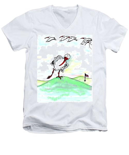 Ibis Hates Leg Men's V-Neck T-Shirt